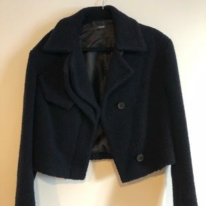 Atlein cropped teddy coat